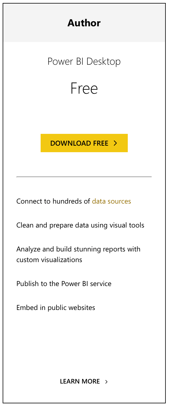 Power BI Free Pricing